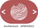 wire frame design element.... | Shutterstock .eps vector #698443021