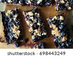 blueberry crumble | Shutterstock . vector #698443249
