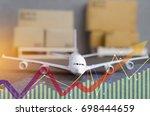logistics and transportation... | Shutterstock . vector #698444659