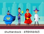 set of evil superhero. cartoon... | Shutterstock .eps vector #698446465