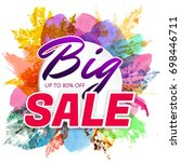 autumn sale poster with... | Shutterstock .eps vector #698446711