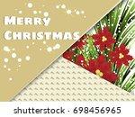 greetings card  style modern... | Shutterstock .eps vector #698456965
