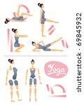 model for yoga or physical...   Shutterstock .eps vector #69845932