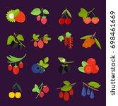 set vector illustration of... | Shutterstock .eps vector #698461669