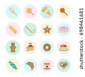 set vector illustration of... | Shutterstock .eps vector #698461681
