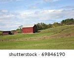 Beautiful Red Barn  Pasture...