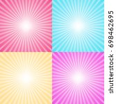 set of four colorful ray... | Shutterstock .eps vector #698462695