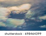 sky beautiful colorful clouds... | Shutterstock . vector #698464399
