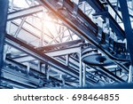 automobile manufacturing plant  ... | Shutterstock . vector #698464855