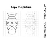 vase   copy the picture  game... | Shutterstock .eps vector #698465959