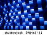 background of the voluminous... | Shutterstock . vector #698468461
