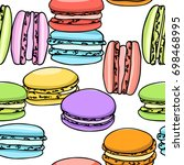 vector seamless pattern with... | Shutterstock .eps vector #698468995