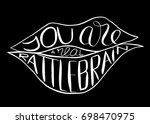 you are a real rattlebrain. ... | Shutterstock .eps vector #698470975
