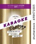 modern bachelorette karaoke...   Shutterstock .eps vector #698471005
