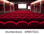 red cinema empty projection... | Shutterstock . vector #69847321