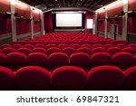 red cinema empty projection... | Shutterstock . vector #69847321