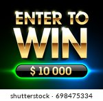 enter to win banner  | Shutterstock .eps vector #698475334