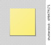 vector yellow sticky note | Shutterstock .eps vector #698479171