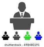 reporter flat vector pictogram. ... | Shutterstock .eps vector #698480191