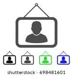 man portrait flat vector icon.... | Shutterstock .eps vector #698481601