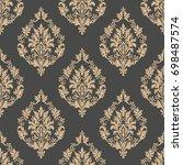 vector damask seamless pattern... | Shutterstock .eps vector #698487574