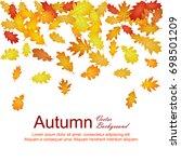 autumn leaves falling down... | Shutterstock .eps vector #698501209