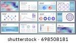 abstract vector business... | Shutterstock .eps vector #698508181