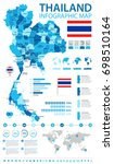 thailand infographic map and... | Shutterstock .eps vector #698510164