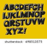 school alphabet. black letters... | Shutterstock .eps vector #698513575