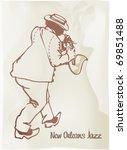 new orleans jazz. illustration | Shutterstock .eps vector #69851488