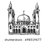 vintage hand drawing islamic... | Shutterstock .eps vector #698519677