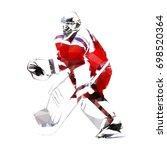 ice hockey goalie  abstract... | Shutterstock .eps vector #698520364
