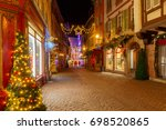 french city colmar on christmas ...   Shutterstock . vector #698520865