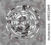 download on grey camo pattern