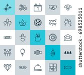 holiday icons set. collection... | Shutterstock .eps vector #698525011