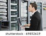 young it  engeneer business man ... | Shutterstock . vector #69852619