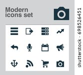 interface icons set. collection ... | Shutterstock .eps vector #698526451
