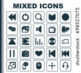 media icons set. collection of... | Shutterstock .eps vector #698527075