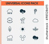 harmony icons set. collection... | Shutterstock .eps vector #698528695