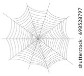 cobweb. halloween. isolated on...   Shutterstock .eps vector #698528797