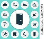 building icons set. collection... | Shutterstock .eps vector #698528911