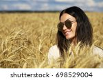 portrait of a young woman in... | Shutterstock . vector #698529004