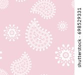 wallpaper seamless pattern.... | Shutterstock .eps vector #698529331