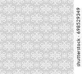gray seamless pattern with... | Shutterstock .eps vector #698529349
