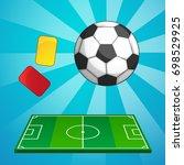 football colorful vector... | Shutterstock .eps vector #698529925