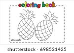 pineapple coloring book