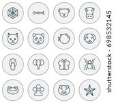 zoology icons set. collection...   Shutterstock .eps vector #698532145