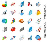 notification icons set.... | Shutterstock .eps vector #698532661