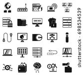 optical drive icons set. simple ... | Shutterstock .eps vector #698534539