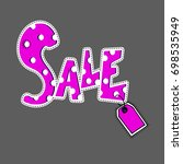 big sale. special offer banner... | Shutterstock .eps vector #698535949